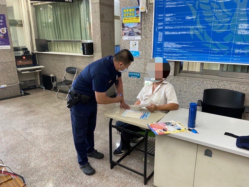 圖片說明:林民對於警方積極求證、保護人民財產的積極和用心,深表感激。(記者葉鈞宇翻攝)