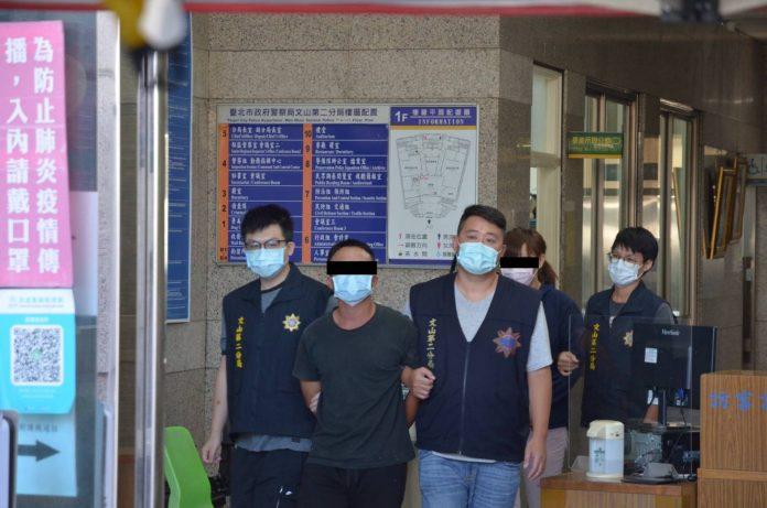 圖片說明:文山第二分局今日凌晨查獲逮捕景美街槍擊案犯嫌。(記者葉鈞宇翻攝)